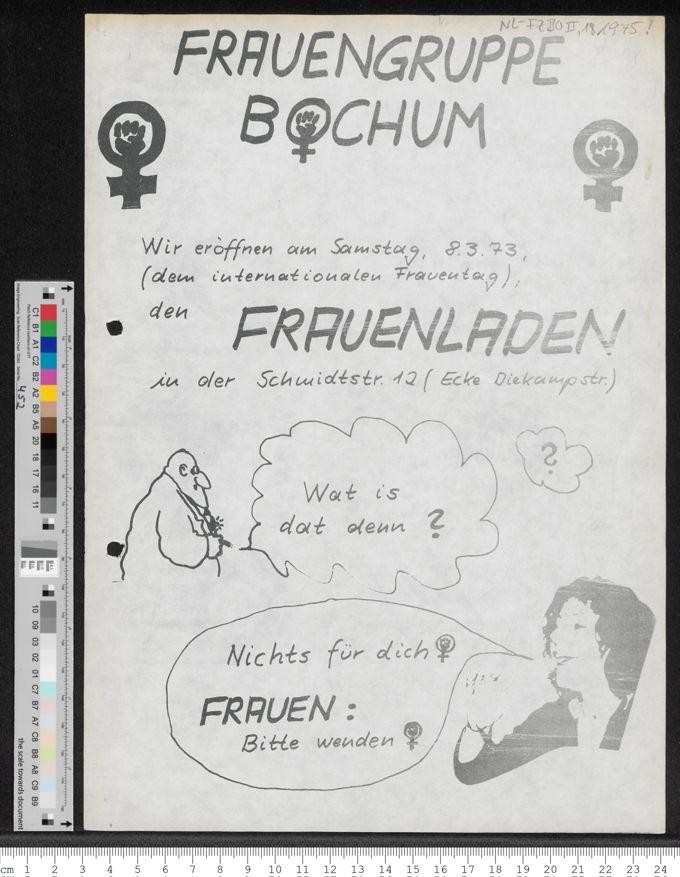 Eröffnung des Frauenladens der Frauengruppe Bochum / Seite 1