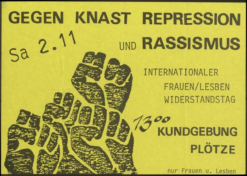 Gegen Knast, Repression, Rassismus
