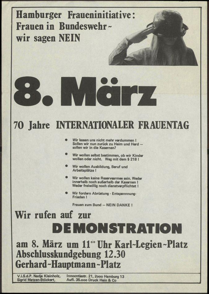 8. März 70 Jahre internationaler Frauentag