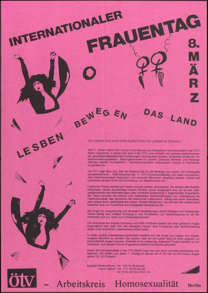 Internationaler Frauentag Lesben bewegen das Land