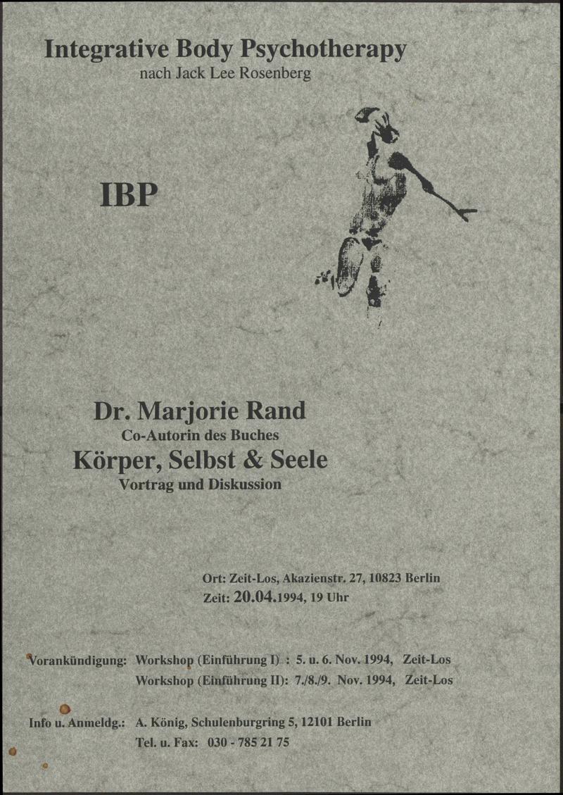 Integrative Body Psychotherapy IBP