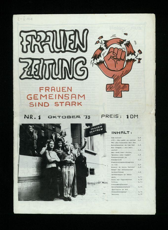 Frauenzeitung : Frauen gemeinsam sind stark (1973)1 / Seite 1