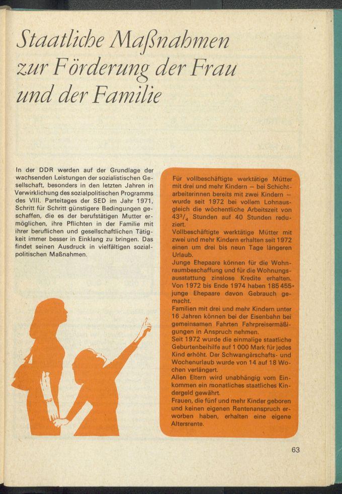 Staatliche Maßnahmen zur Förderung der Frau und der Familie / Seite 4