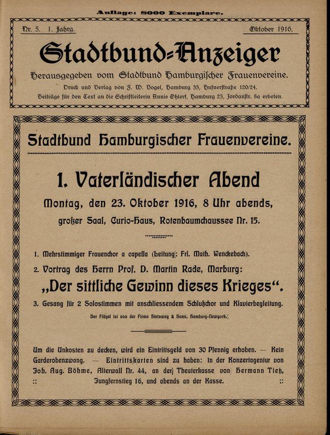 Stadtbund-Anzeiger 1(1916)5