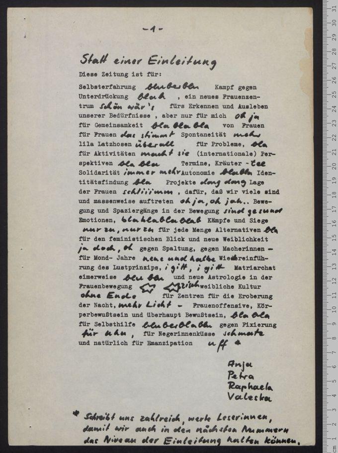 Frauenzeitung 1(1979)1