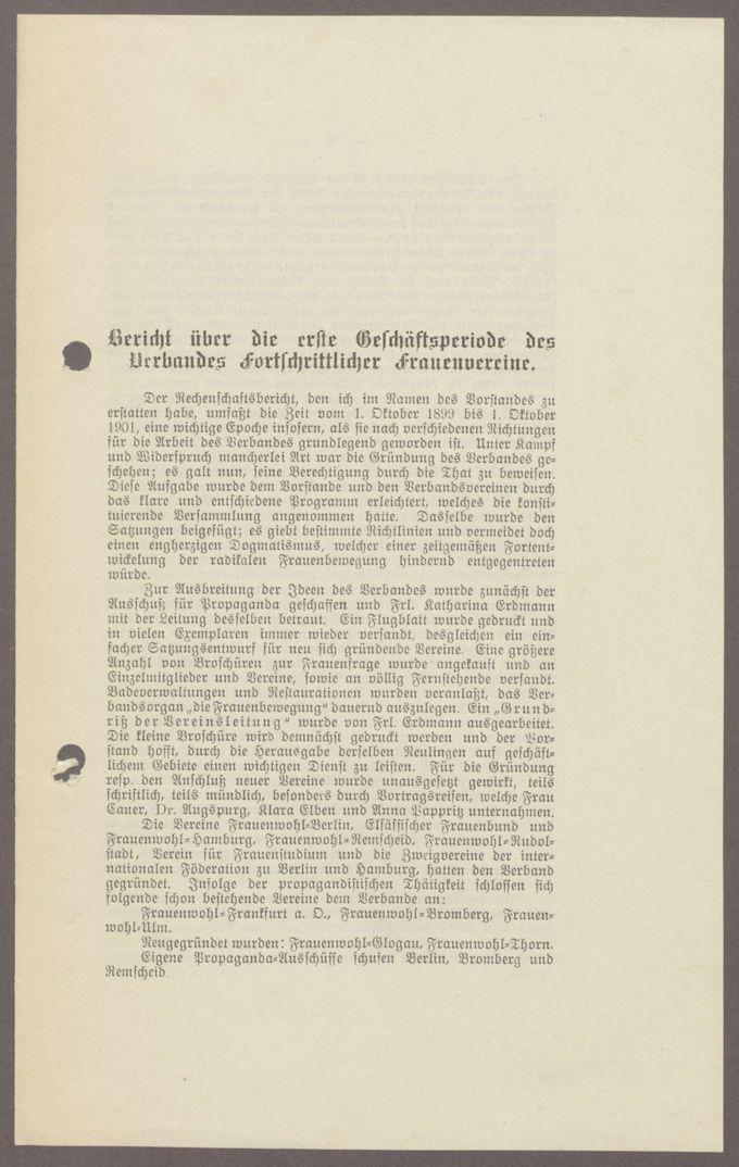 Geschäftsberichte und Arbeitsorganisation / Seite 5