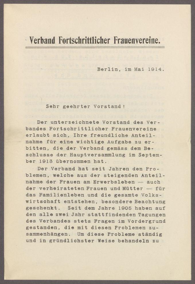 """Schaffung einer Zentralstelle für die Probleme """"Frauenerwerbsarbeit und Ehe"""" / Seite 4"""
