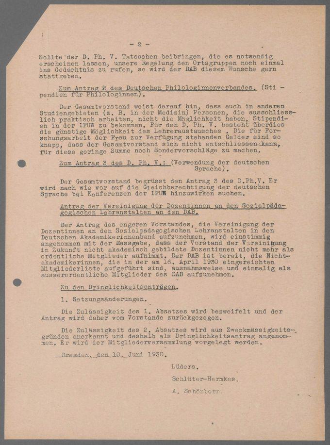 Vorstandssitzungen des DAB / Seite 84